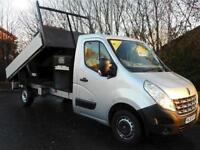 Dec 2011 Renault Master 125ps long wheelbase tipper with secure storage
