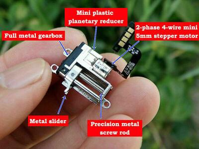 Dc5v Micro 5mm Precison Planetary Gear Stepper Motor Linear Screw Slider Nut Rod
