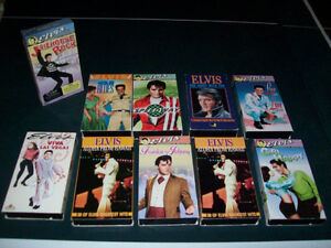 VHS  VIDEOS  --  ELVIS,  JAMES  BOND,  CHILDRENS, ETC. ETC.