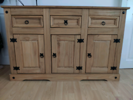 Large Solid Wooden Chest Sideboard Cabinet Cupboard L132xH84xW54