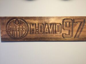 McDavid inspired rustic wooden sign