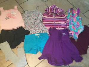 Big lot - Girls SUMMER CLOTHES size 5-6 (odd size 4, fits large) Kingston Kingston Area image 3