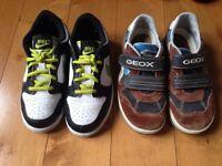 2 paires de chaussures garçon, gr 13 (Eur 31) Nike/Geox