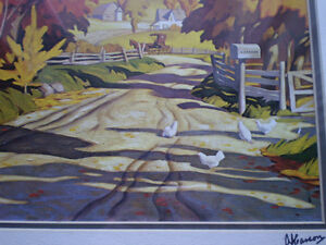 """Full Signature  A.J.Casson """"Country Road"""" Print Kitchener / Waterloo Kitchener Area image 6"""