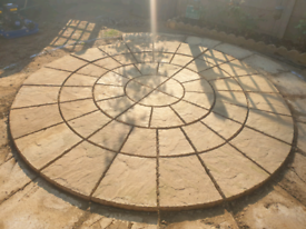 2.56M ROTUNDA Patio Stone Circle in condition and quality reclaimed