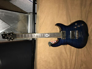 Ibanez electric guitar & peavey amp combo