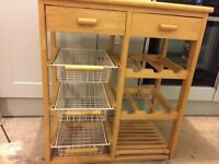 Kitchen chopping surface / veg rack / wine rack