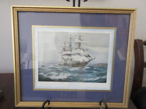 Great print of trading ship - Astoria Launched 1868