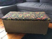 Lloyd loom style storage trunk - ottoman