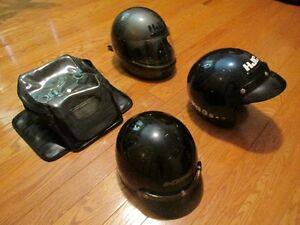 Motorcycle helmets, and tank bag