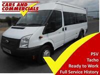 2013 63 FORD TRANSIT MINIBUS 430 LWB EL 135PS 17-SEATS DIESEL