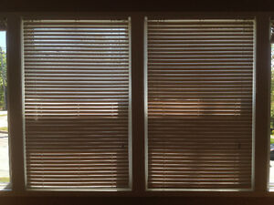 Four white window blinds - mint condition