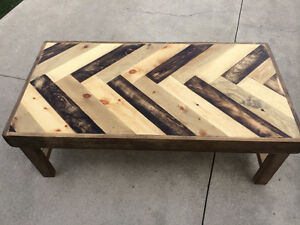 Herringbone Pine Table