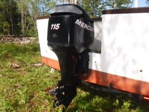 115 hp Mercury Optimax outboard with gauges & controls + Trailer