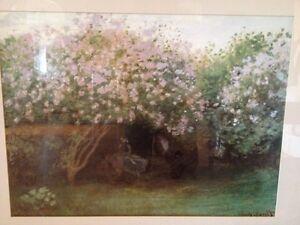 Claude Monet Framed Print Resting Under the Lilacs Cambridge Kitchener Area image 3