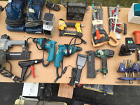 Variety of power tools