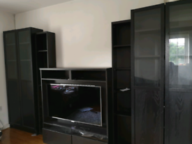 Ikea black lounge TV furniture