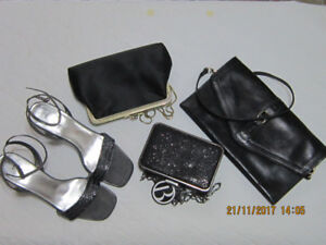 Dressy Sandals Exc.Used Cond., clutches and leather clutch