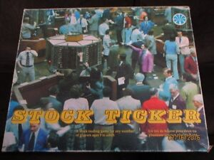 Vintage Stock Ticker Board Game