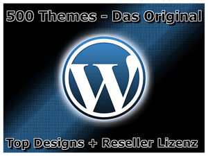 500 exklusive WordPress Themen Themes Grafik Layouts + Master Reseller Lizenz !