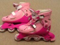 Hello Kitty Roller Blades Size 13 junior - 3, VGC