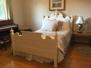Lovely French style wooden 3/4 width bed for sale.