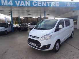 Ford Transit Custom LIMITED CREWVAN130PS 310 L1/L2 LWB/SWB H1 FROM £22495