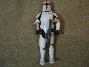Star Wars 12 Inch RED CLONE TROOPER Action Figure Strathcona County Edmonton Area image 1
