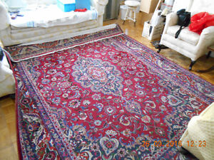 Persian handknotted carpet %100 wool