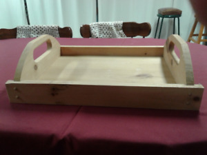 Solid Wooden Tray x 2