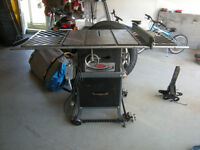 """Older Rockwell table saw 9"""" Cast iron deck, 1 hp motor"""
