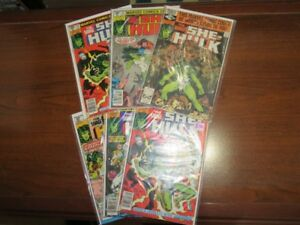 Vintage 1980's The Savage She-Hulk Marvel Comic Book Lot