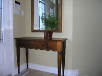 FOYER CONSOLE TABLE, MIRROR AND BENCH!!!