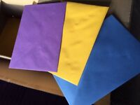 Joblot Envelopes - 2500 + Blue, Yellow, Purple 151mm x 216mm - to fit A5