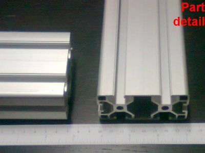 Aluminum T-slot Extruded Profile 40x80-8mm L100 200 300 400 Or 500mm -3pieces