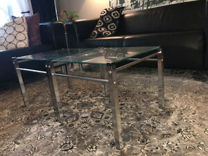 Chrome and glass nesting tables Kitchener / Waterloo Kitchener Area image 2