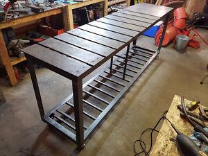 """Steel Welding Bench - 8' x 23.5"""" x 37.25"""""""