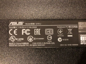 """Asus ROG 17"""" laptop in mint brand new condition-UPGRADED"""