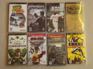 Lot of 22 PSP games available for as low as $5 each!