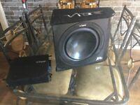 VIBE 1000 watt SUB & AMP. £70