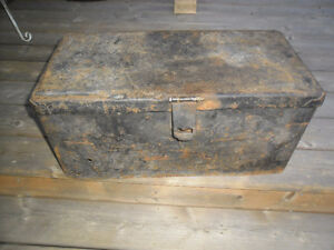 Large, old, heavy, metal box