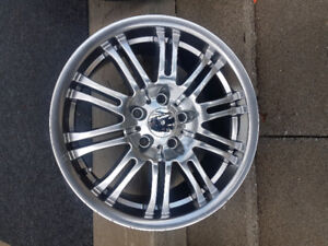 4 SUMMER TIRES WITH RIMS  (NEW)