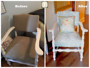 * Re-upholstery services * we BEAT any quotation by  15%