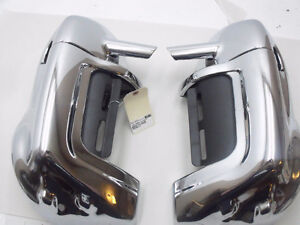 New Aftermarket Vented Fairing lowers in chrome for HD Touring