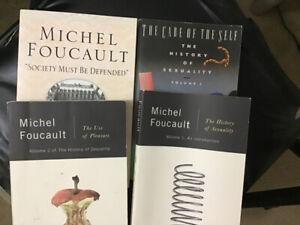 Michel Foucault books: history of sexuality and one more