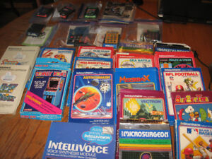 24 INTELLIVISION GAMES & VOICE SYNTHESIS & GAME MACHINE