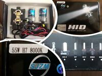 HID H7 KIT 2 of 55W Zenon Bulbs plus fixing brackets for Mercedes or BMW