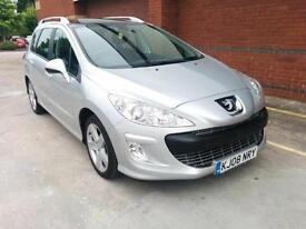 Peugeot 308 SW 1.6HDi Sport. PAN ROOF. A/C. CD/AUX. ALLOYS. SH. WARRANTY. CRUISE