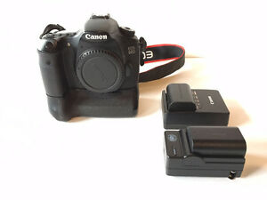 Canon 60D body with battery grip and 4 batteries