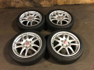 JDM ACURA RSX SILVER TYPE-R MAGS WITH WINTER TIRES 17 INCH 2002+